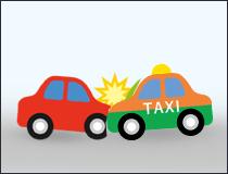 タクシーの乗客事故